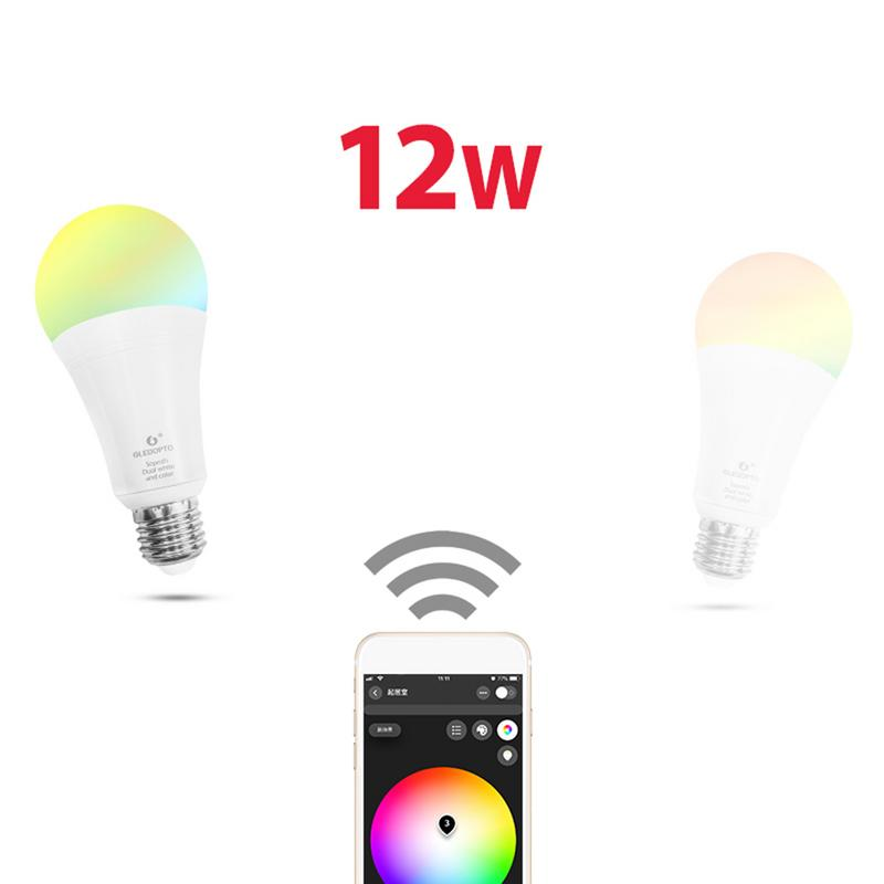 Kaigelin Zigbee 12W LED RGB CCT Bulb Warm/White Light Magic Light Bulb LampMobile APP Control AC100 240V 1000lm