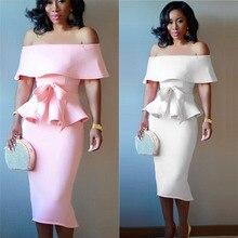Z-ZOUX Women Dress Sexy Dress Summer Strapless Evening Party Dress White Pink Wedding Shoulder Off Elegant