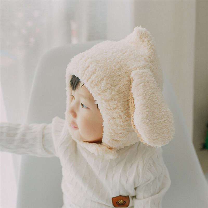 Ear-Warmer Toddler-Hats Bombers Baby-Girls Earflaps Soft-Caps Rabbit Winter Kids Boys