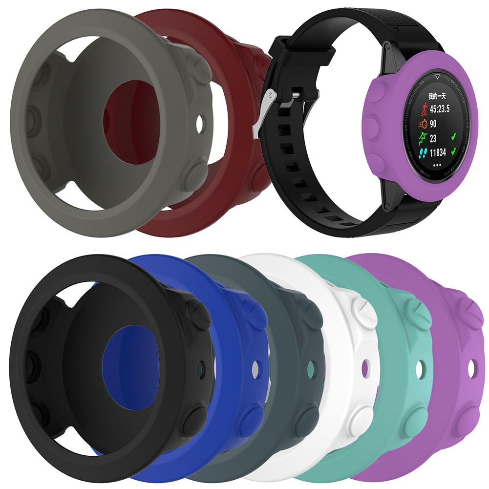 High quality Silicone Protective Case Cover Wristband Bracelet Protector For Garmin Fenix 5 Smart Watch Colorful Silicone-in Smart Accessories from Consumer Electronics