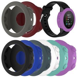Image 1 - Wysokiej jakości silikonowe skrzynki pokrywa opaska na nadgarstek bransoletka Protector dla Garmin Fenix 5 smart watch kolorowe silikonowe