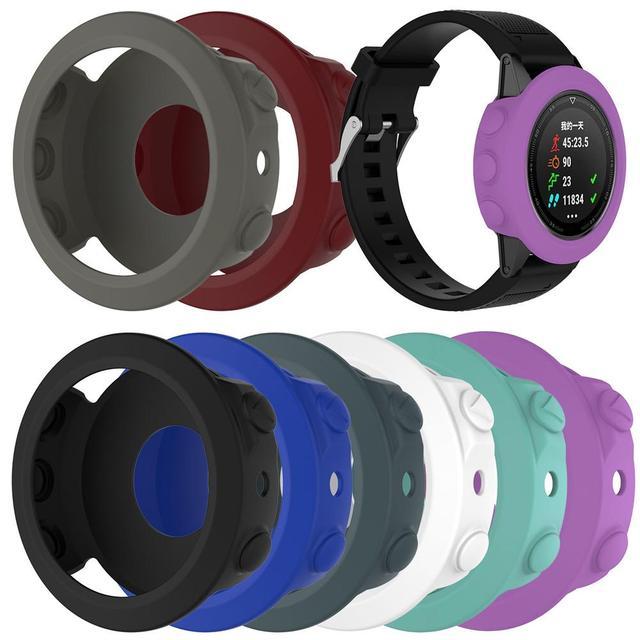 Wysokiej jakości silikonowe skrzynki pokrywa opaska na nadgarstek bransoletka Protector dla Garmin Fenix 5 smart watch kolorowe silikonowe