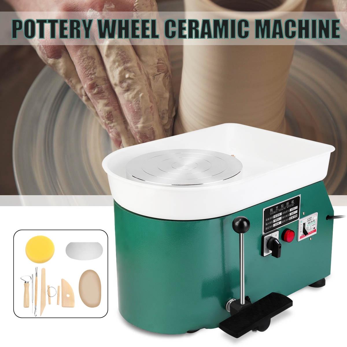 110 V/220 V 3 couleurs poterie formant la Machine électrique poterie roue argile pour travaux pratiques outil avec plateau pour artisanat en céramique 250 W/350 W