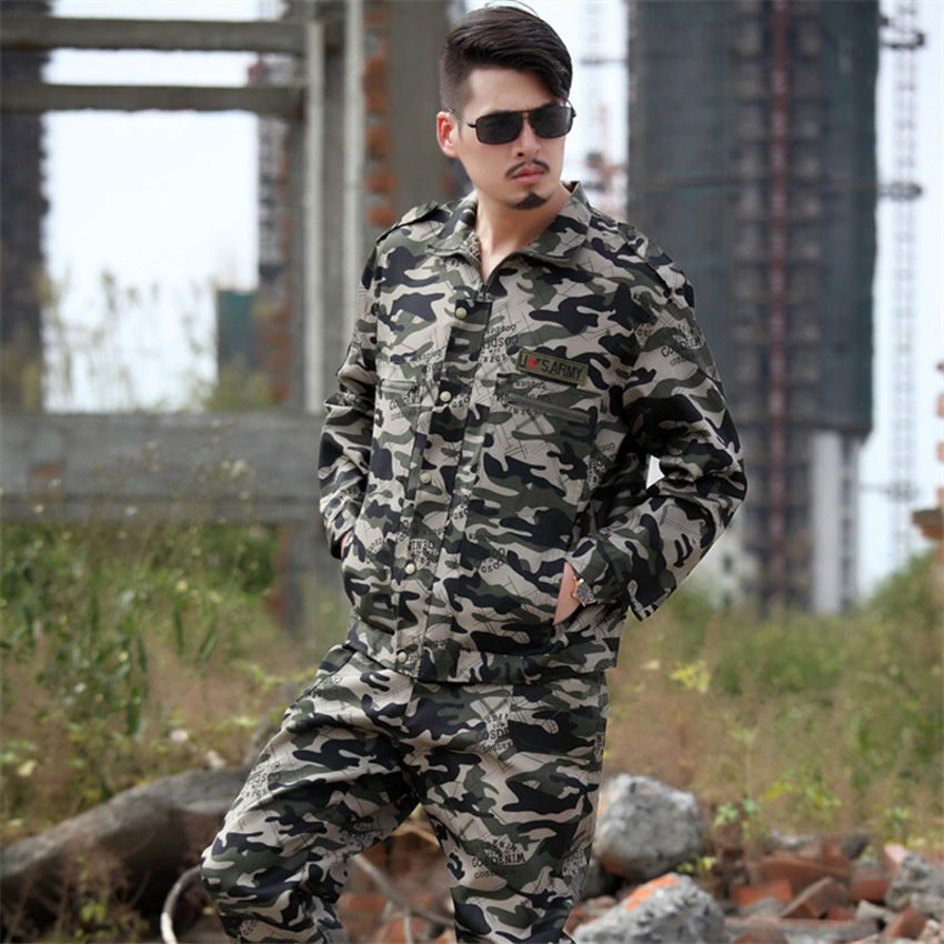 High Quality Disguise Man Military Uniform Army Suit Camouflage WW2 Male Tactical Jacket Pants Multicam Combat Set Costumes
