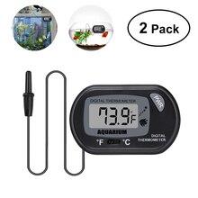 UEETEK 2 шт Съемный Безопасный Прочный Регулируемый ЖК-термометр с присоской для аквариума террариума вивариума