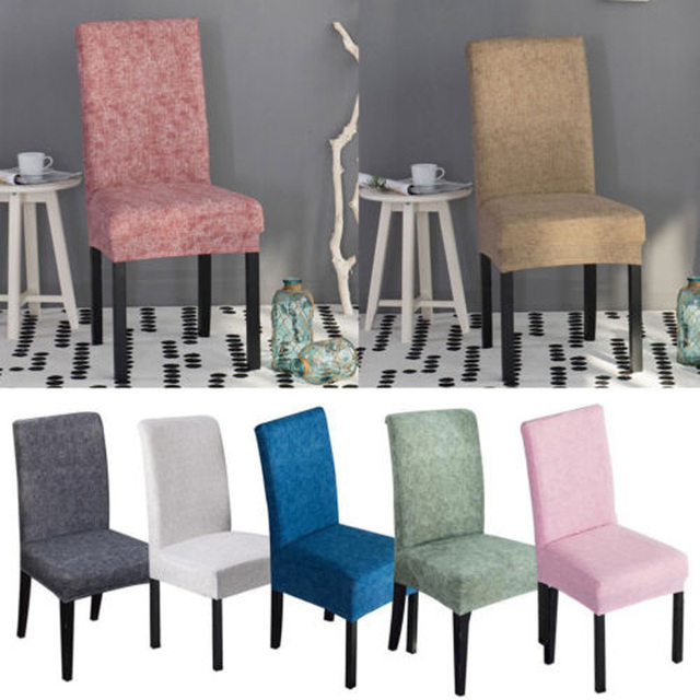 Us 1 78 6 Off Brand New Style Stretch Fox Pile Fabric Dining Room Wedding Kitchen Home Short Chair Seat Covers Cover In From
