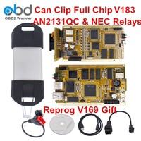 2019 может закрепить полный чип диагностический сканер последний V187 может Клип диагностический интерфейс obd ii инструмент Reprog V175 как подарок б