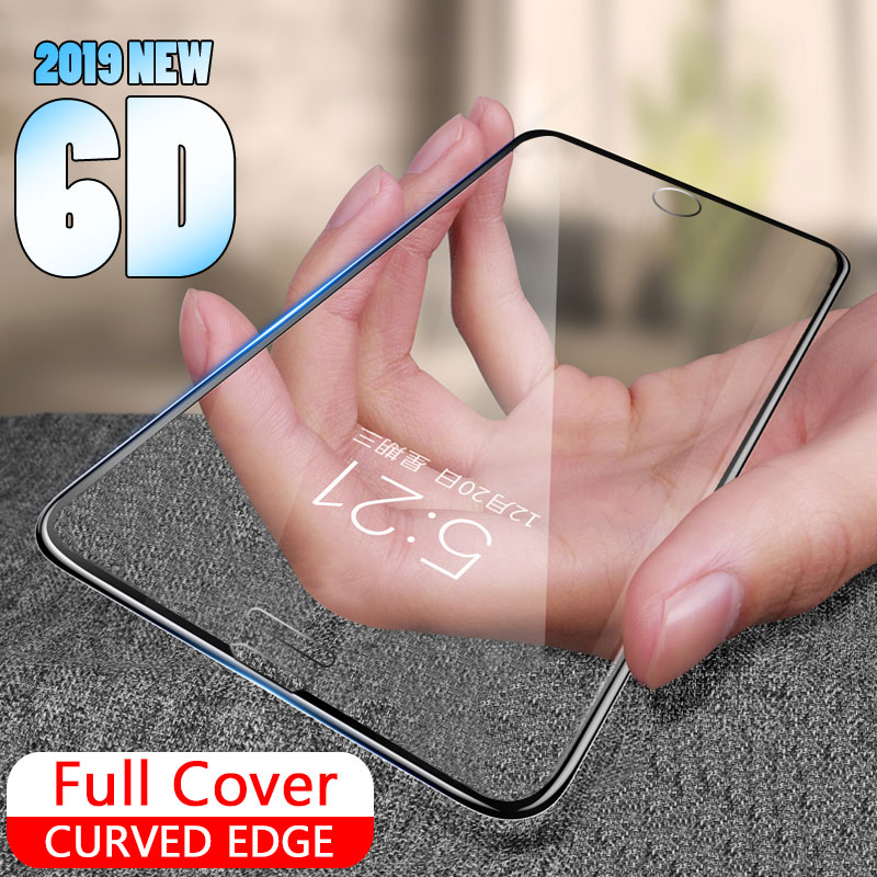 6D Full cover curved edge Tempered glass On For <font><b>iphone</b></font> 6 7 6s 8 Plus Screen Protector On For <font><b>iphone</b></font> <font><b>X</b></font> <font><b>XS</b></font> Protective Glass <font><b>Film</b></font> image