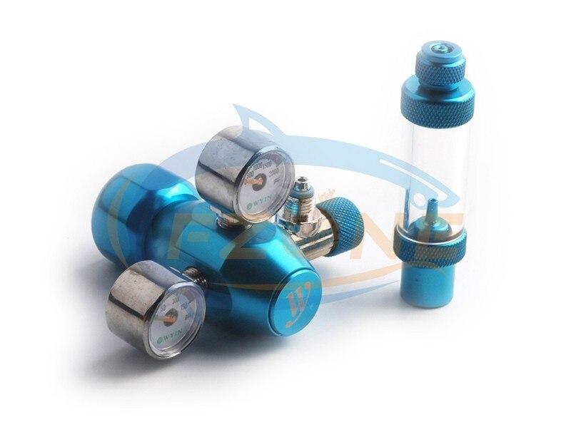 Chihiros acuario Wyin Mini doble calibre CO2 regulador con válvula de contador de burbujas de válvula de solenoide y Kits de instalación - 3