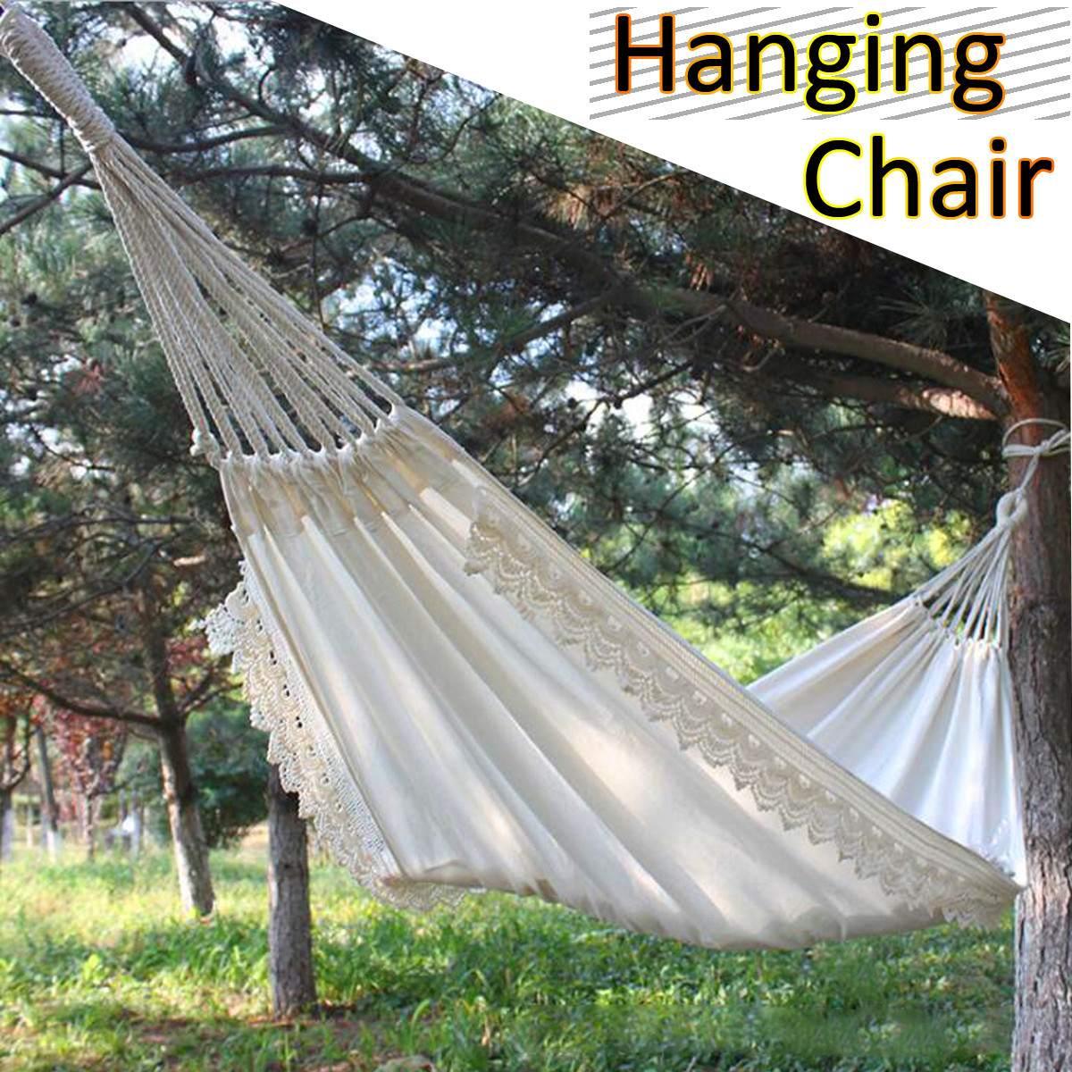 Outdoor Indoor Furniture Hammock Swing Hanging Chair Garden Dormitory Hammock For Children Adult For Travel Hiking Sleeping