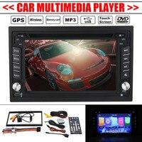 6,2 дюймов аудиомагнитолы автомобильные двойной 2Din стерео радио Мультимедиа bluetooth gps навигации USB ТВ камера TFT дистанционное управление до 32 Г