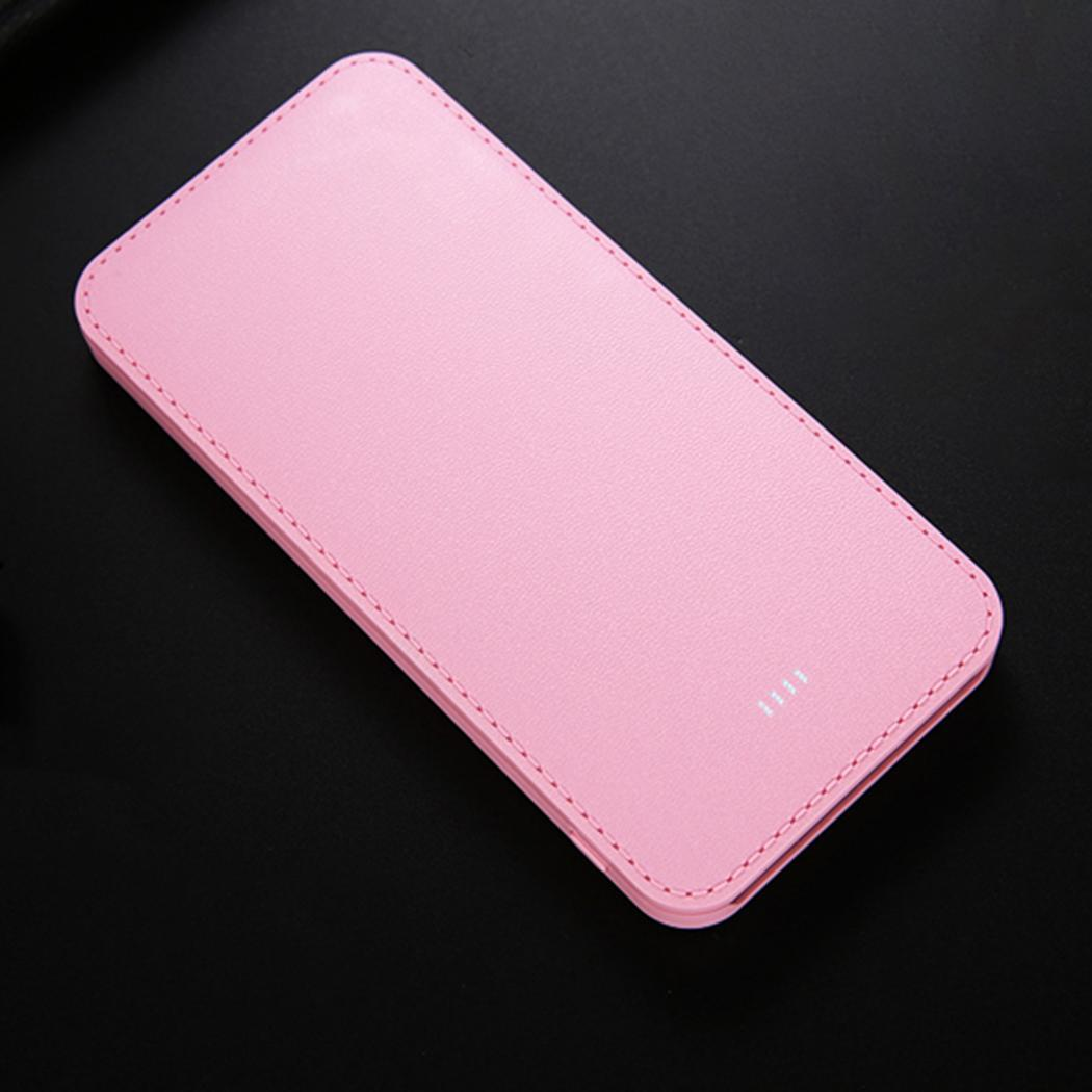 10000 mAh Ultra-thin 5.5 Inches  Dual  USB Power Bank Case 5V 2A 5 Colors Power Bank Kit (without  Battery) usb battery bank charger