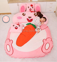 1.2x2m Cartoon Rabbit Bag Mattress for Children Chinese Zodiac Tatami Sleeping Bed Beanbag Sofa Warm Cartoon Tatami Sleeping(China)