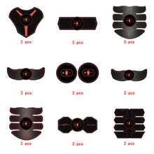 2pc Replacement Muscle Stimulator EMS Figure Slimming Machine Weight lossing Tens Exercise Slim Belt Rechargeable Part Orange