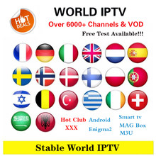 Best Europe Iptv subscription Iptv Spain France Italy Portugal Poland Netherlands 5000 live For M3u Enigma2 Android Box Smart tv(China)