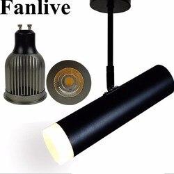 Fanlive 20 sztuk LED lampa śledzenia 7W 10W 15W COB utwór sufitowe szyny Spot oprawy źródło światła zmienny 3000K 4000K 6000K