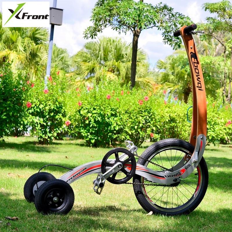 Nouvelle Marque Tricycle Sport Vélo Sans Siège Permanent Lumière Pliage Dynamique Vélo Perdre Du Poids Vélo Brûler les Graisses Cyclo-Pousse
