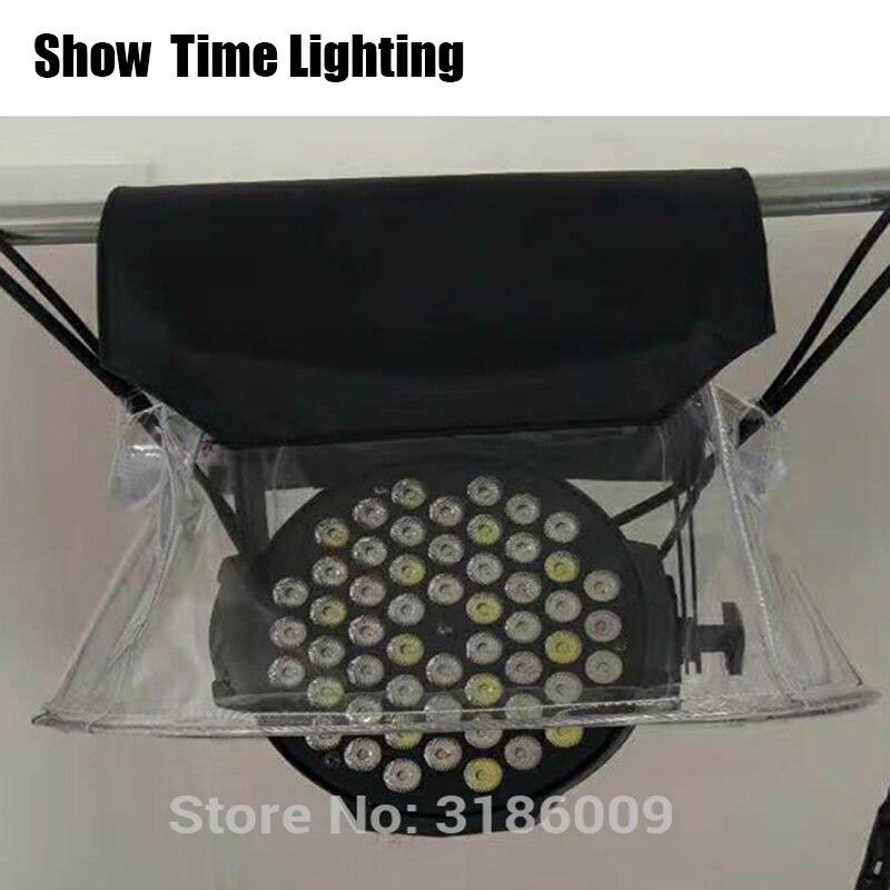 SHOW Time 10pcs/lot LED PAR Rain Cover Stage Light Rain Snow Coat Waterproof Covers With Transparent Crystal Plastic