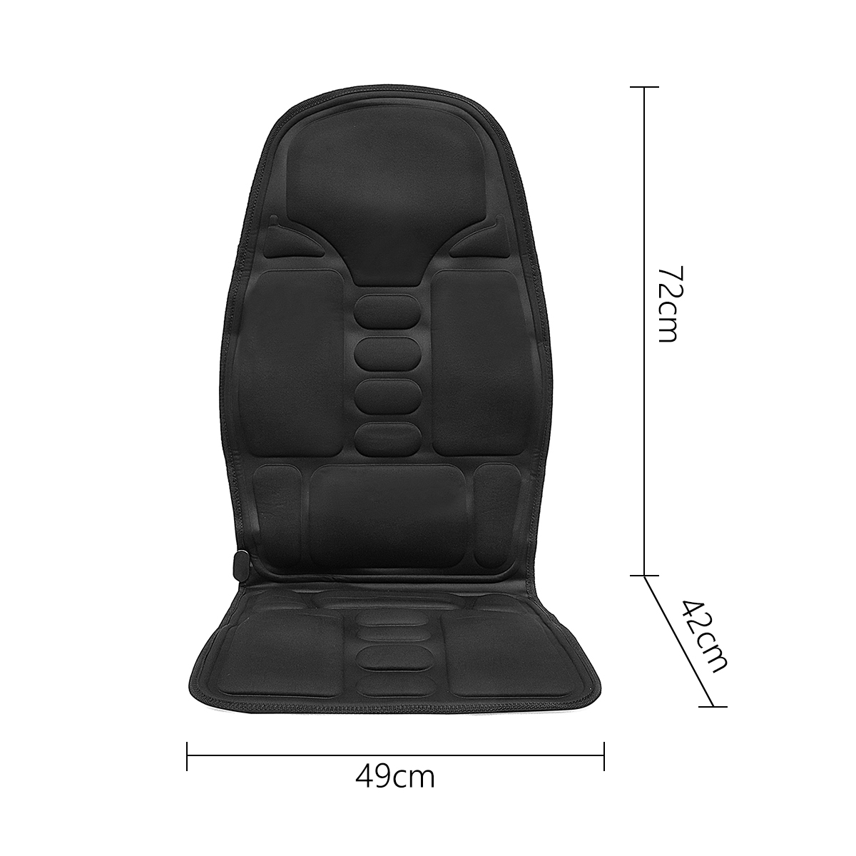 Electric Multifunction Back Heated Massager Lumbar Back Neck Pad Relaxation Car