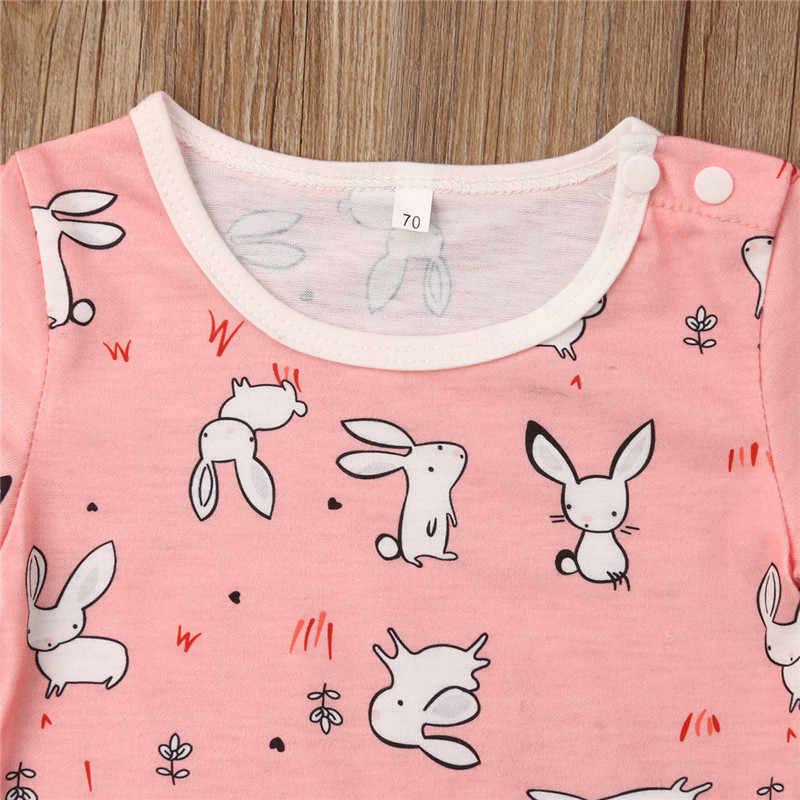 0-18 M Sơ Sinh Kid Baby Girl Boy Bodysuit Easter Bunny Mùa Hè Ngắn Tay Áo Một mảnh Jumpsuit Sunsuit quần Áo trẻ em Trang Phục