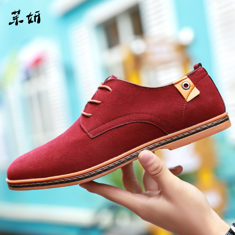 Nausk Plus Size 48 Men Oxfords Faux   Suede     Leather   Men Casual Shoes Spring Autumn Fashion Oxford Shoes Men 2019 Male Tenis Shoes