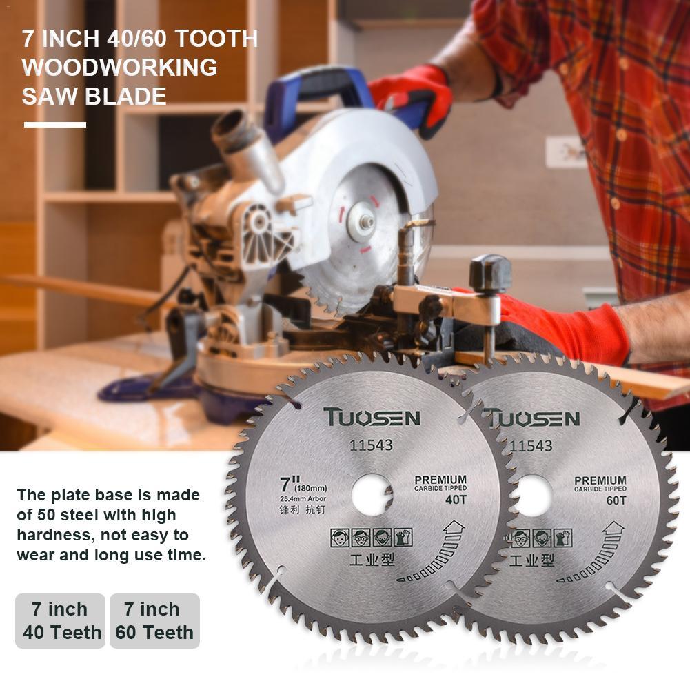 7 Inch 40/60 Gear Circular Saw Blade Woodworking Carbide Circular Saw Blade Wood Cutting Machine