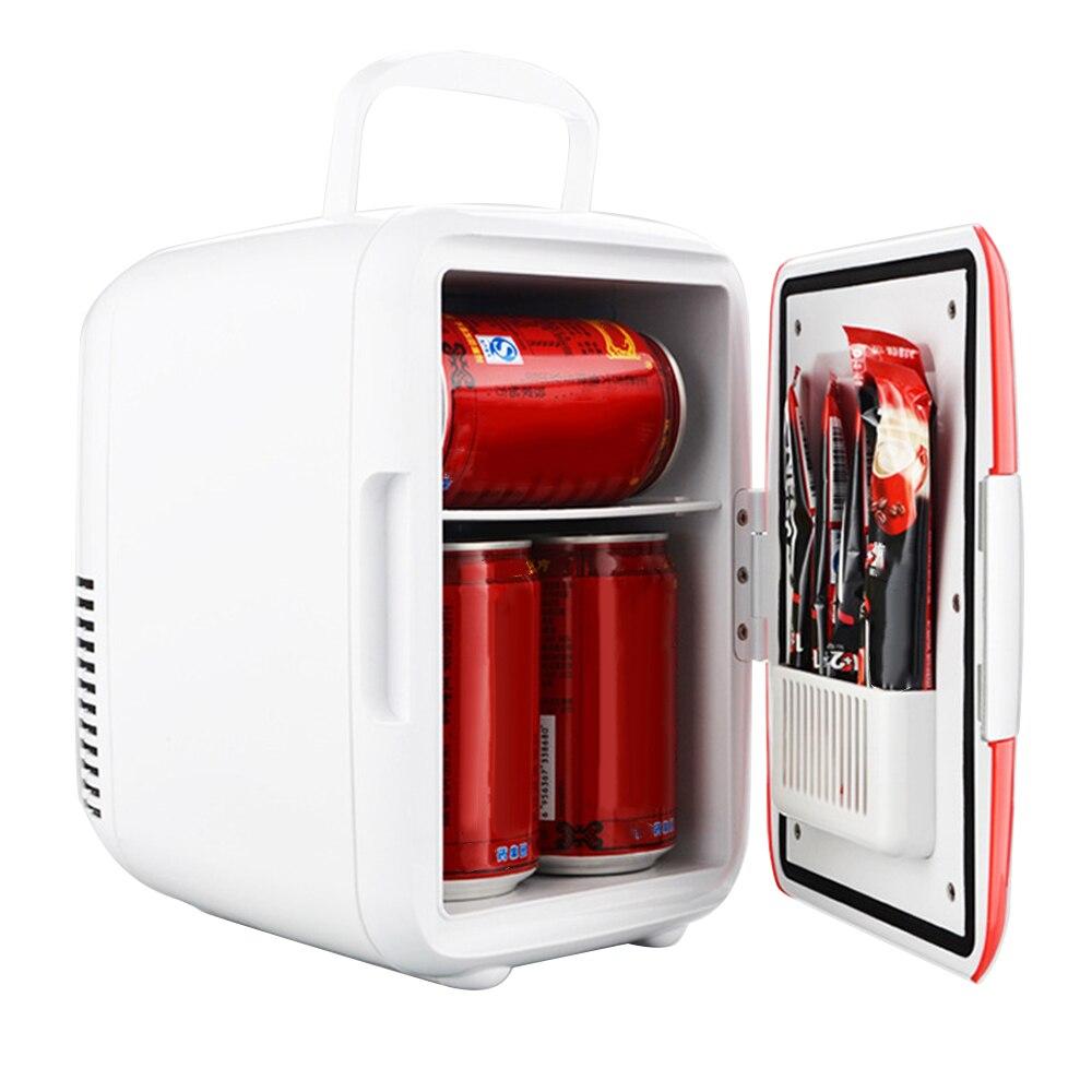 4L 12V Mini Portable Multi-Function Car Refrigerator Home Cooler Freezer Warmer Auto Cooling Freezing Warming Fridge Low Noise