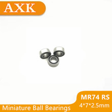 2019 New Arrival Real Free Shipping High Quality 10pcs Mr74-2rs Abec-5 4*7*2.5 Mm Miniature Ball Bearings Mr74rs L740