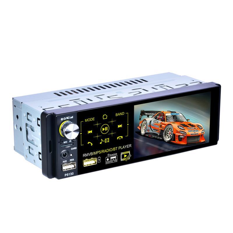 Autoradio 1din Autoradio 4.1 pouces écran tactile capacitif Audio miroir lien stéréo Bluetooth IR caméra de recul USB lecteur Aux
