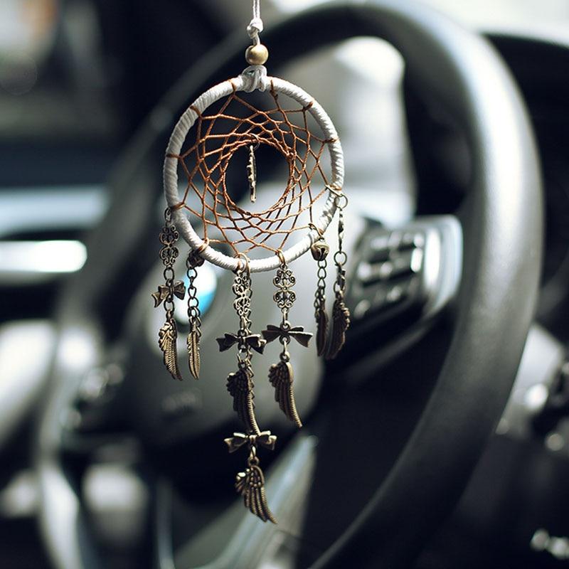 Украшение для дома в стиле ретро ловец снов, безопасное дерево, висячие на автомобиле, украшение для интерьера, украшение из перьев, бронзовая подвеска, подарки, украшение для автомобиля|Ловцы снов и подвесные украшения| | АлиЭкспресс
