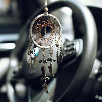 Retro dreamcatcher bezpieczne drzewo samochód wiszące ozdoby do domu dekoracja wnętrz piórko rzemiosło wisiorek z brązu prezenty dekoracja samochodu tanie i dobre opinie MEMOSTO Wikliny Azji południowo-wschodniej Miłość