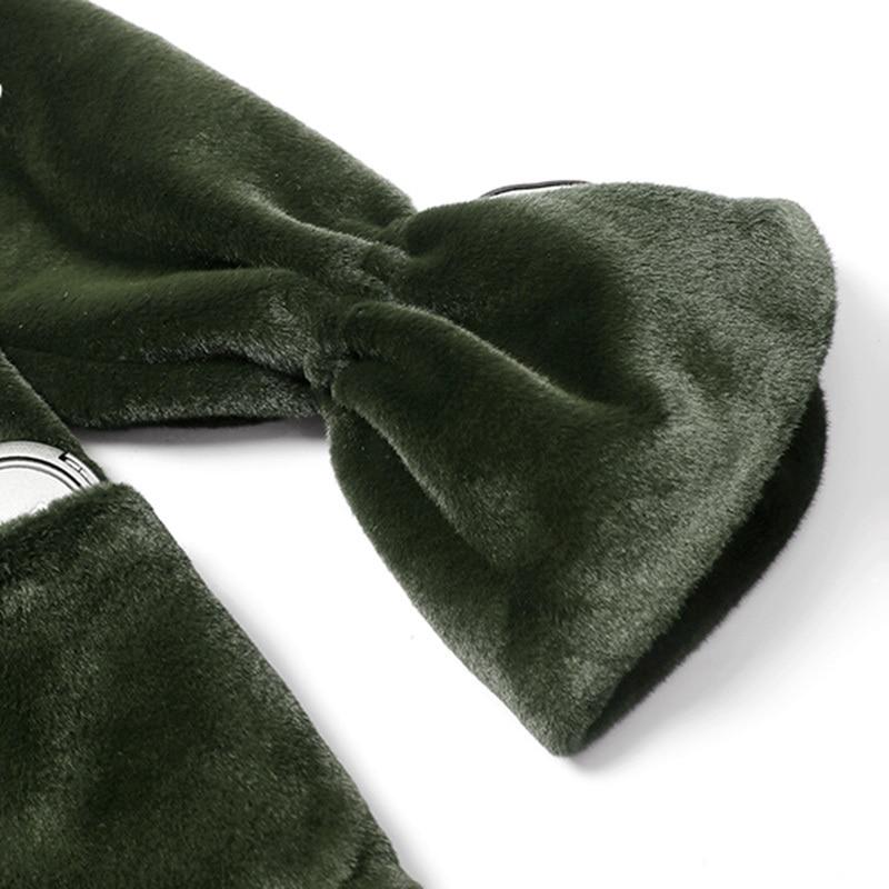 Femme 2019 Long Fourrure Couvert eam Ourlet Vert Amovible Queue Printemps Hiver Le754 Poisson De Blanc Longue Flare Manches Green Couleur Manteau Bouton dtYYfq