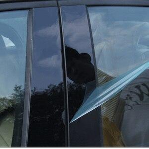 Car Window Center Pillar Sticker Trim External Decoration Film Car Accessories For Fiesta/Focus 2009 10 11 12 13 14 15 2018