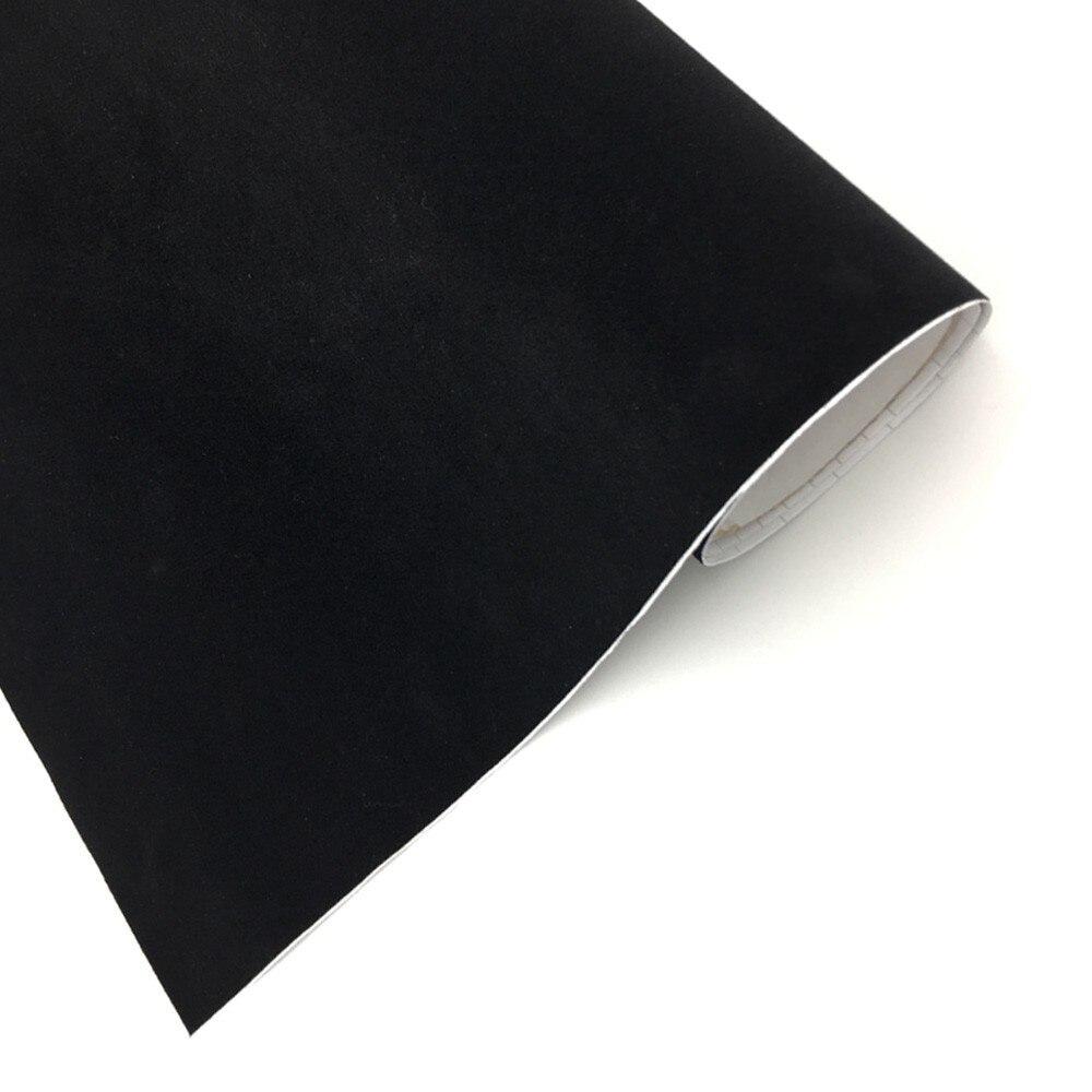 Noir Auto Daim Vinyle Wrap velours daim fourrure//toutes tailles//en tissu texturé Film