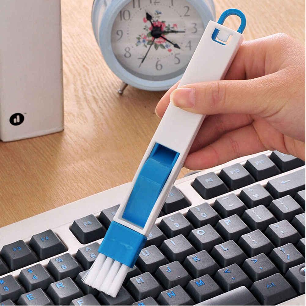 Высокое качество Многоцелевой практичный оконный угловой трек клавиатура щетка очиститель + Совок 2 в 1 Инструмент Горячая случайный