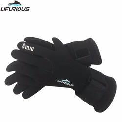 Резиновая дайвинг перчатки Для мужчин утеплена густым Удобная одежда к царапинам рука Дайвинг перчатки