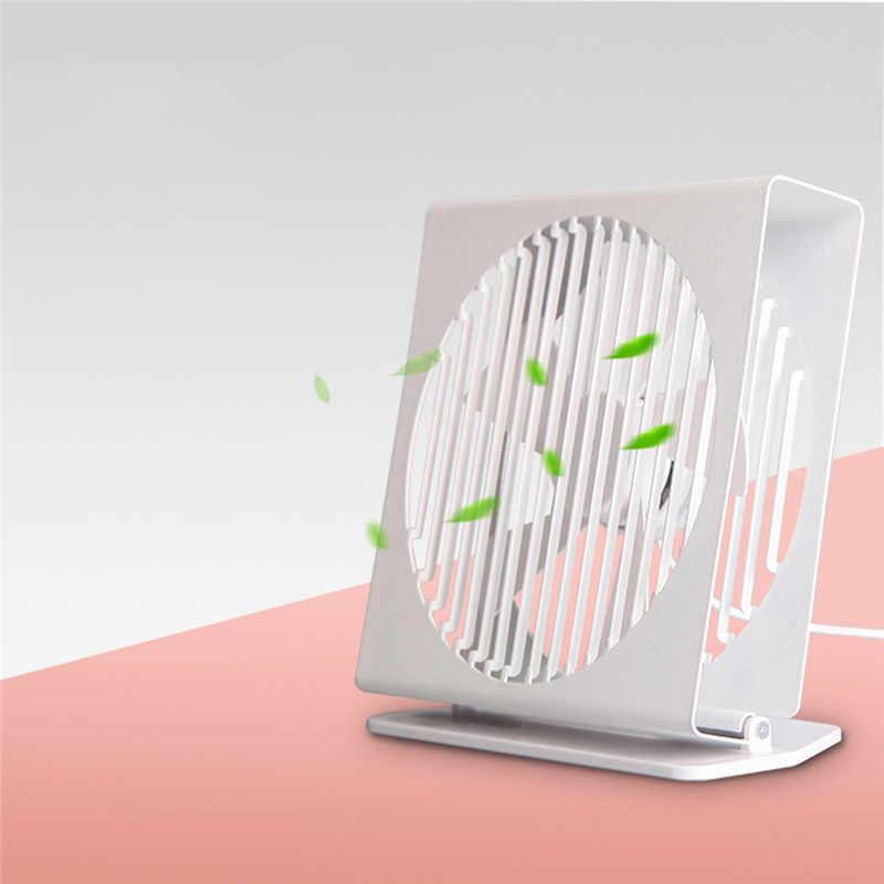 Original VH CE 7 pouces Portable Mini ventilateur muet en métal 5 lames double Mode bureau à domicile bureau sans brosse moteur ventilateur blanc et noir