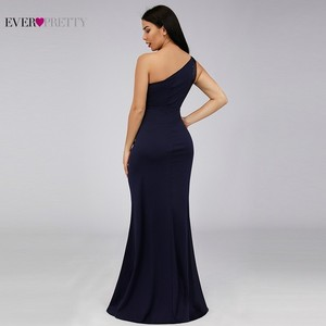 Image 3 - Bodycon High Split Evening Dresses Ever Pretty Sequined One Shoulder Mermaid Elegant Women Long Party Gowns Robe Soiree 2020