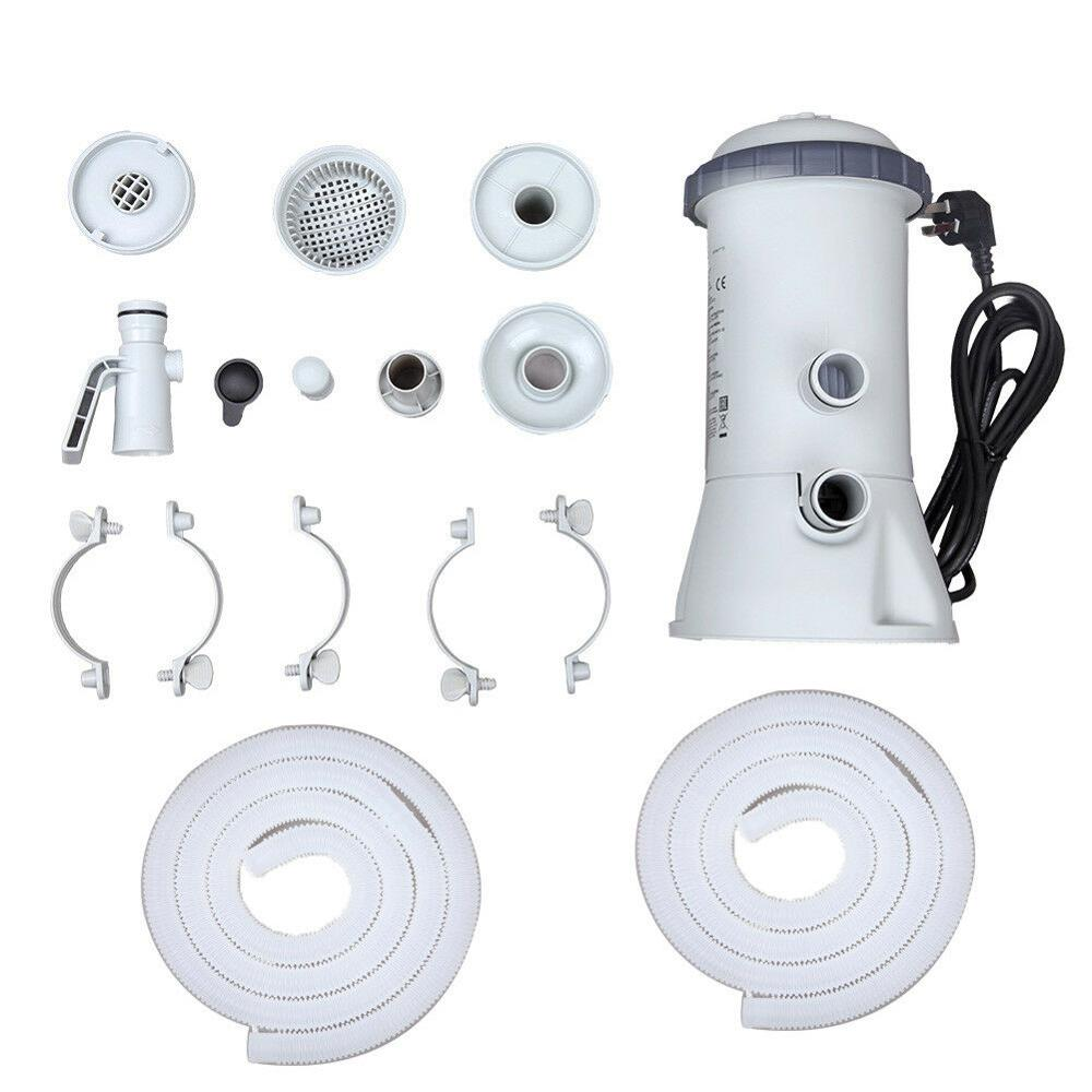 1000GAL 220 V pompe de filtration Outils Pour Intex Piscine Rapide Sol cadre en acier