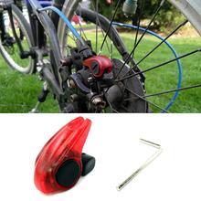 Портативный мини-стоп-фонарь для велосипеда задние огни для велосипеда Водопроницаемый; с высокой яркостью красный светодиодный Предупреждение легко установить