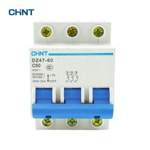 CHINT Miniature Circuit Breaker AC 400V 50A 3 Pole Household Air Switch DZ47-60 C50