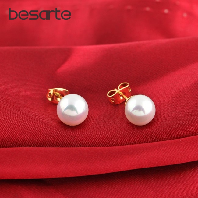 Pearl Earring Stud Earrings For Women Bijoux Gold Ear Brinco Ouro Bijouterie Boucle D'oreille Earrings Fashion Perla E2899