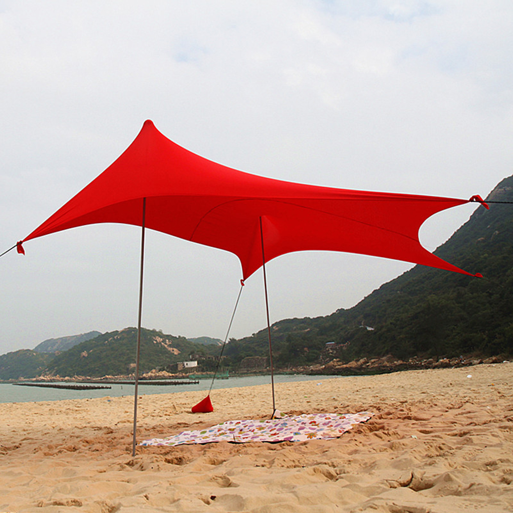 Waterproof Sunshade Tarp Shelter Awning Canopy Camping Beach Tent Cover Lightweight Foldable