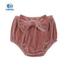 3c79c92d2b Nuevo lindo bebé niña de terciopelo conejo cola PP pantalones cortos  pantalones Bloomer
