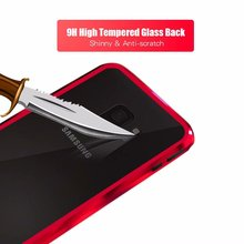 Updated version 360 armor metal bumper tempered Glass magnetic Adsorption FOR SAMSUNG Galaxy s8 plus