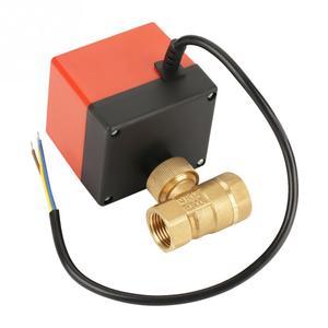 Image 5 - DC 12V G1/2 DN15 פליז 2 דרך ממונע כדור חשמלי Valve לבקרת זרימה כלים באיכות גבוהה עבור hvac מאוורר סליל ניטראלי חוט