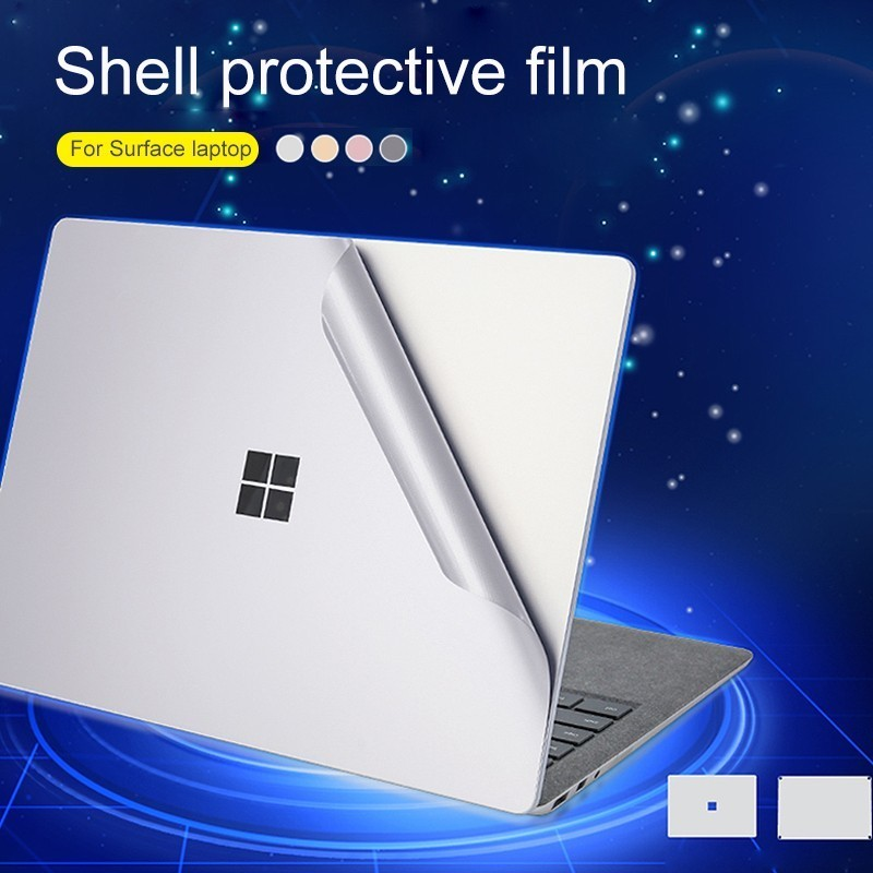 Skin Shell Protect Sticker pack For Microsoft Surface Laptop 13.5 Anti-Scratch Protect Sticker Fuselage Metal Texture Shell film