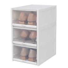 3 шт. Экологичная для обуви коробка для хранения прозрачный пластиковый прямоугольник Pp Органайзер утолщенный ящик