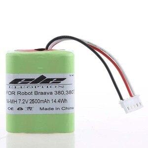 Image 5 - Eleoption batterie de remplacement pour aspirateur 7.2V, 2500mAh de haute qualité pour IRobot Roomba Braava 380 et 380T, nouveau