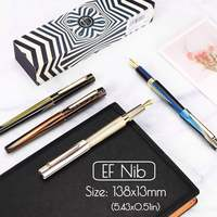 KICUTE 0.38 mm Fountain Pen High Quality Business Acrylic Resin Pen With Gift Box For Christmas Gift Wedding Signing